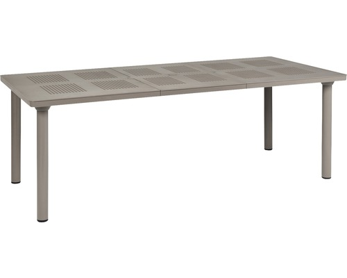 Emejing table de jardin en resine libeccio grise for Table extensible resine