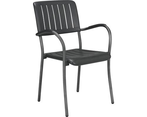 Chaise de jardin Nardi Musa plastique 61x60x89 cm, anthracite ...