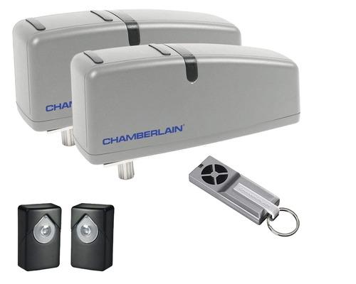 Motorisation de porte pivotante Chamberlain HC624ML pour portes 2 vantaux pour jusqu''à 250kg max./porte