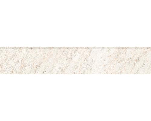 Plinthe en quartzite blanco 8 x 45cm