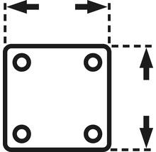 Plaque à visser 29 x 29 mm, tige 8 x 26 mm et bague de serrage, 2 unités-thumb-2