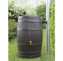 Tonneau de récupération d''eau de pluie 4rain Vino 250 litres, marron foncé-thumb-1