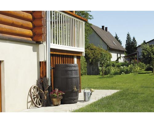 Tonneau de récupération d''eau de pluie Barrica 260 litres, marron-0