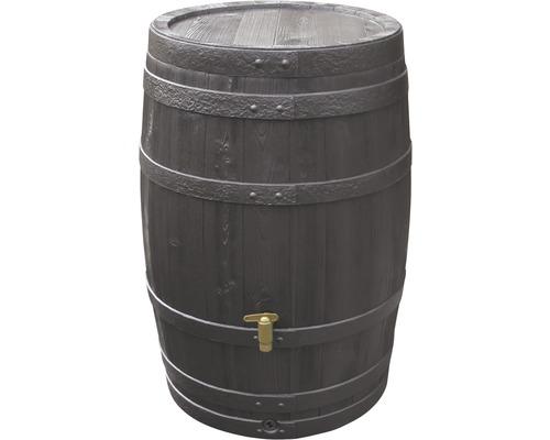 Tonneau de récupération d''eau de pluie 4rain Vino 250 litres, marron foncé