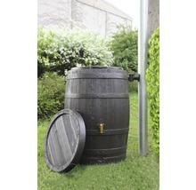 Tonneau de récupération d''eau de pluie 4rain Vino 250 litres, marron foncé-thumb-2