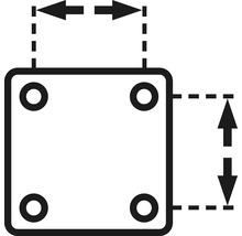 Plaque à visser 29 x 29 mm, tige 8 x 26 mm et bague de serrage, 2 unités-thumb-3