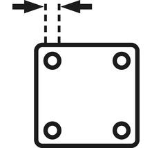 Plaque à visser 29 x 29 mm, tige 8 x 26 mm et bague de serrage, 2 unités-thumb-1