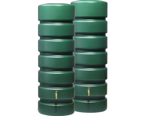 Set de réservoirs d''eau de pluie Classico 1300 litres, vert