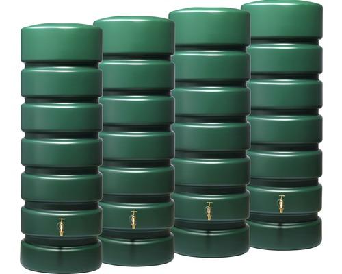 Set de réservoirs à eau de pluie Classico 2600 litres, vert
