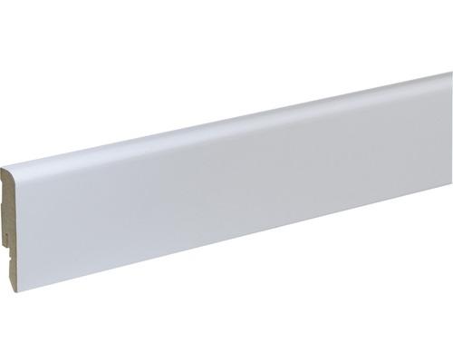 Plinthe FU54L MDF blanc laqué 12x58x2400mm