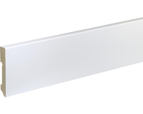 Plinthe Skandor FU96L MDF blanc laqué 16x90x2400 mm
