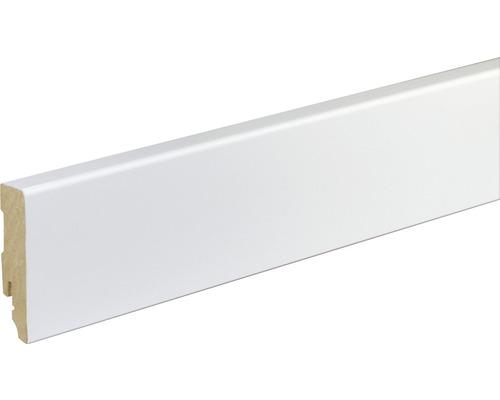 Sockelleiste FU86L MDF weiß lackiert 16x70x2400 mm