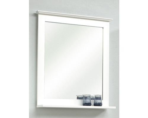 Miroir en bois Pelipal Jasper avec tablette 68x60cm blanc