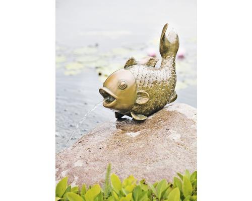Figurine de bassin gros poisson 43 cm