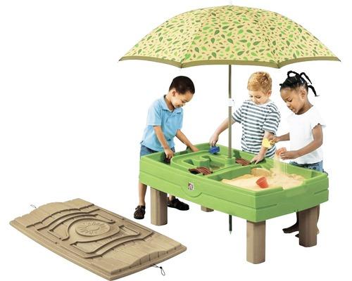 Table de jeu sable et eau Step2 118x53x66 cm grün-braun