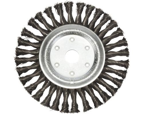 Brosse ronde tressée Lessmann Ø 178mm fil d''acier