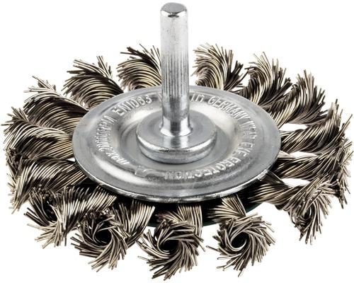 Brosse ronde Lessmann Ø 75mm fil d''acier torsadé