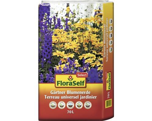 Gärtnerblumenerde FloraSelf Select, 70 L-0