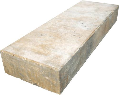 Marche en bloc béton iStep Pure calcaire coquillier 100x35x15 cm
