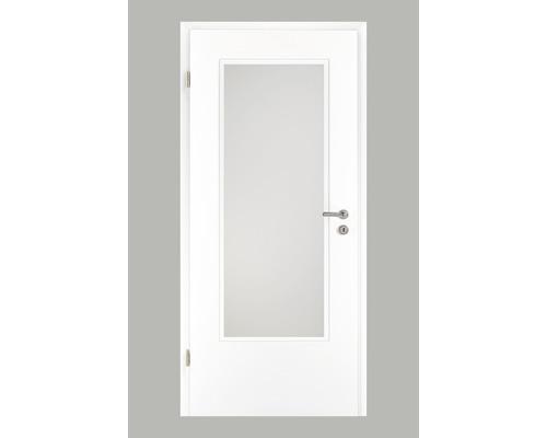 Porte intérieure Pertura Yori CPL blanche 86,0x198,5 cm tirant gauche avec découpe G3 (sans vitrage)