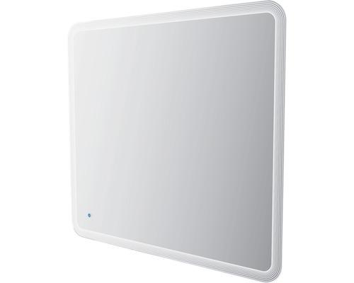LED-Spiegel Touch ein/aus 100x90 cm mit hinterbeleuchteten Streifendesign IP 44 (fremdkörper- und spritzwassergeschützt)