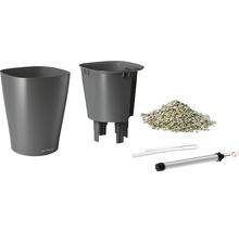 Pot Lechuza Deltini plastique Ø 14 H 18 cm anthracite-thumb-1