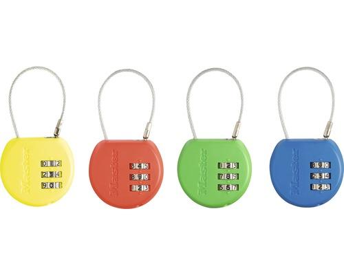 Kabel Zahlenschloss Master Lock mit Adressschild