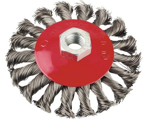 Brosse métallique Ø 100 mm fil d''acier