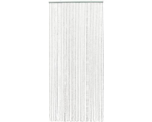 Rideau de porte perles argenté 90 x 200 cm