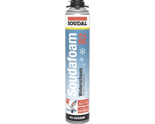 Mousse pistolable d''hiver Soudal Soudafoam B2 750 ml vert