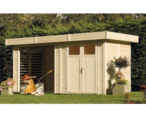 Abri de jardin Konsta Kubik Woodhouse, 456x210 cm, naturel ...