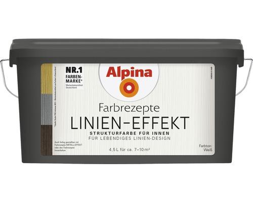 Peinture à effet lignes Alpina mélange blanc 4,5 l