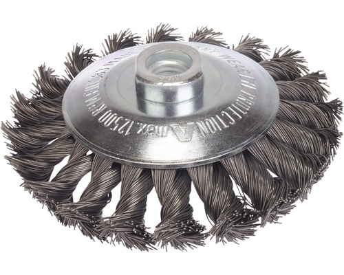 Brosse à cône tressée Lessmann Ø 100 mm fil d''acier