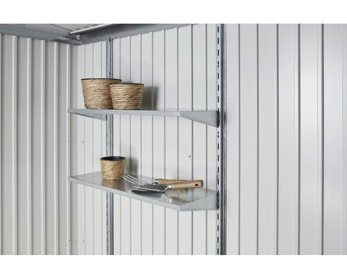 Fixation verticale biohort pour remise à outils Europa et armoire à outils, longueur 173cm, argent