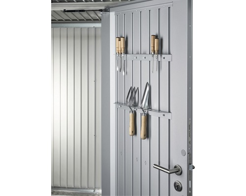 Porte-outils biohort porte remise à outils AvantGarde, HighLine, Panorama, Highboard, 51,5cm, argent
