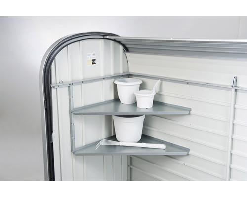 Ensemble d''étagères d''angle biohort StoreMax pour taille 120 et 160 54x54 cm