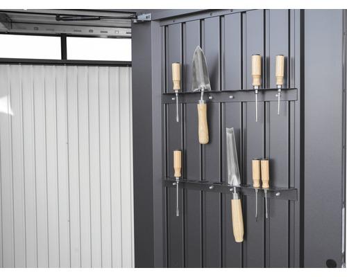 Werkzeughalter biohort für Tür Gerätehaus AvantGarde, Gerätehaus HighLine, Gerätehaus Panorama, 51,5 cm, dunkelgrau