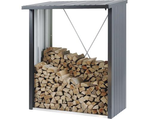 Abri bûches biohort WoodStock 150 157 x 102 x 199 cm gris foncé métallique