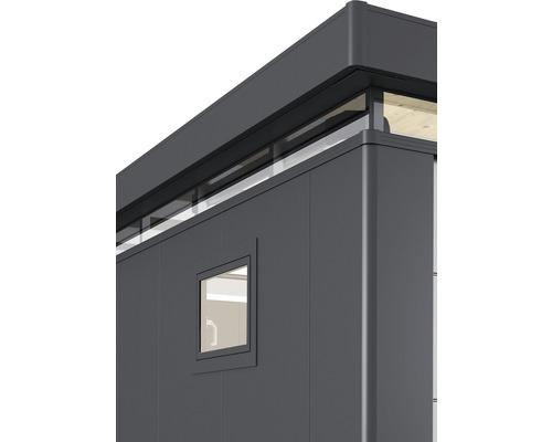 Fenêtre oscillo-battante CasaNova droite, 83x65 cm, argent métallique