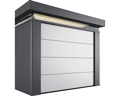 Portail sectionnel sans entraînement électrique 237.5x200 cm, argent