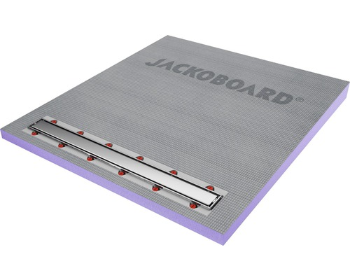 JACKOBOARD Aqua Line pro Duschelement mit Abflussrinne aus gebürstetem Edelstahl 1000x900x60/43