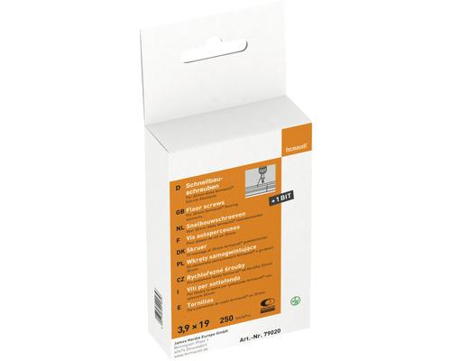 Vis pour construction rapide Fermacell pour plaque de sol 3,9 x 19 mm paquet = 250 pièces