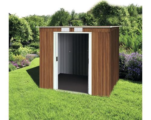 Abri de jardin Pent 6x4 Woodgrain, 198.1x119.3 cm, bois - HORNBACH ...