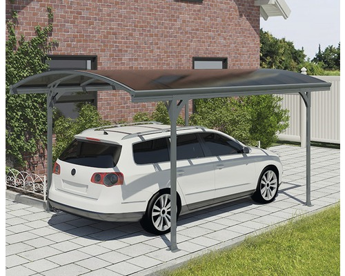 Carport simple PALRAM Vitoria 5000 gouttière comprise 290 x 500 cm anthracite