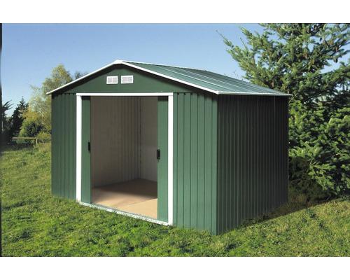 Abri de jardin Titan 8x6, 250.3x170.2 cm, vert - HORNBACH Luxembourg
