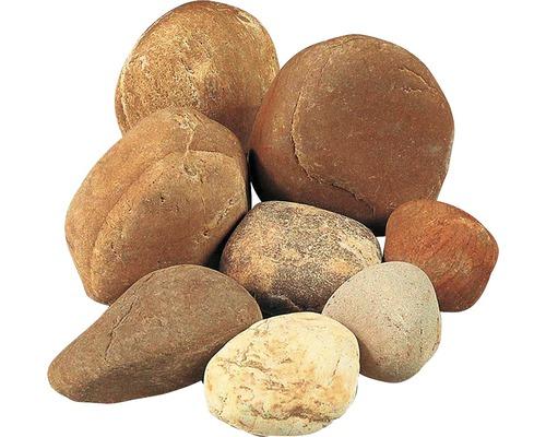 Graviers multicolores 100-250 mm 250 kg, gris-beige