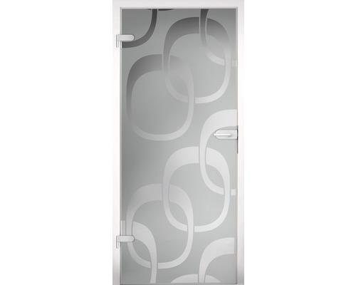 Porte vitrée Pertura Runa Square 834 x 1972 x 8 mm tirant droit pour ferrure Studio