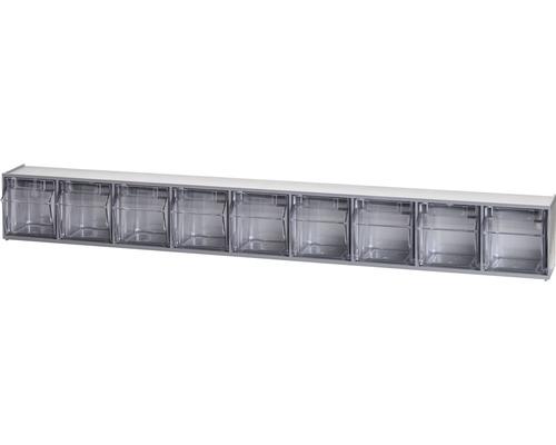 Casier transparent 9 cases 600mm gris Multistore