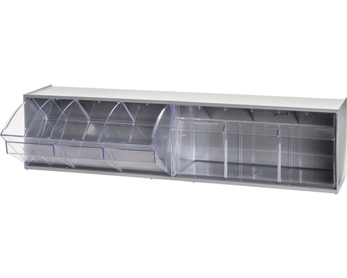 Casier transparent 2x3 cases 600mm gris Multistore
