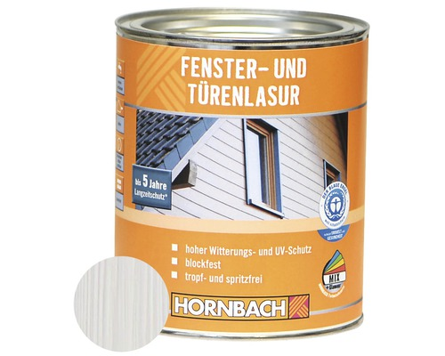 Lasure pour portes et fenêtres blanc 750ml